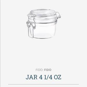 Bormioli Rocco PAIR storage jars. S/2 4 1/4oz each